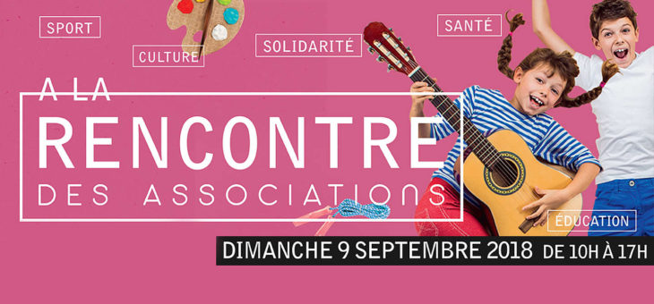 Rendez-vous au forum des associations du 09 Septembre 2018 !