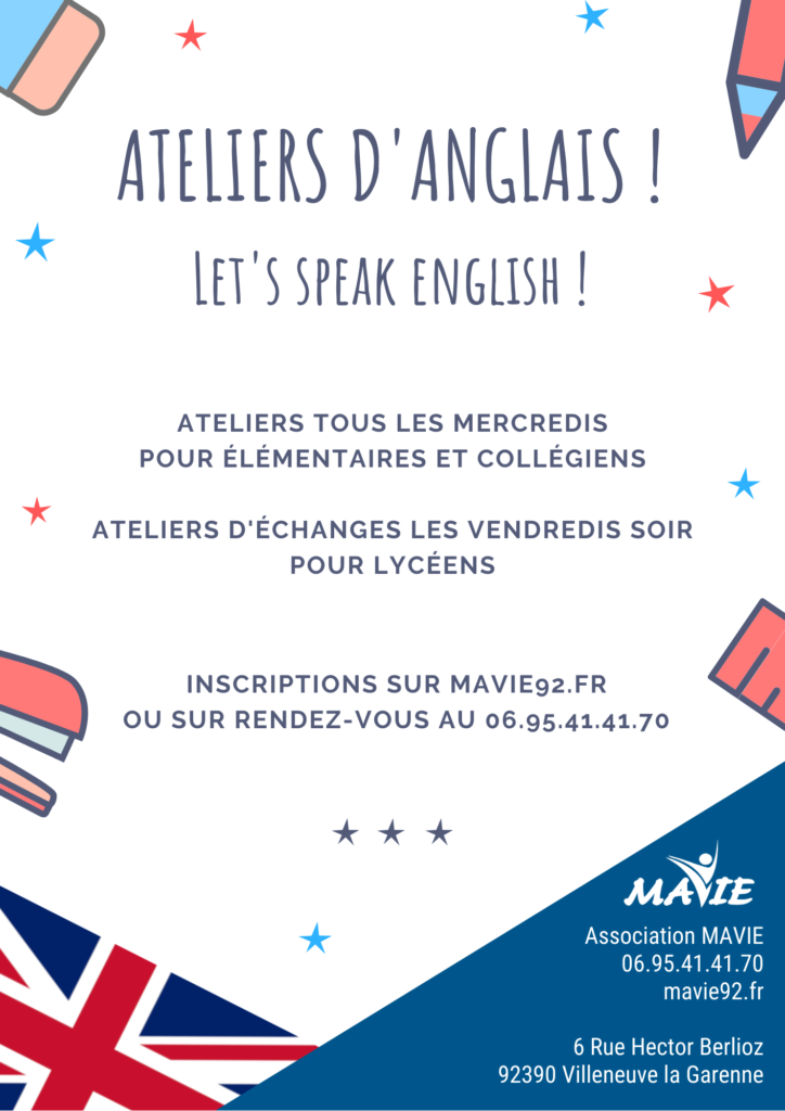 Flyer ateliers d'anglais